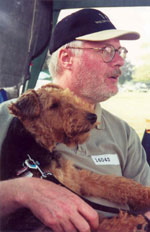 Welsh Terrier - Bertie & Bill at the NADAC Trial - 2000